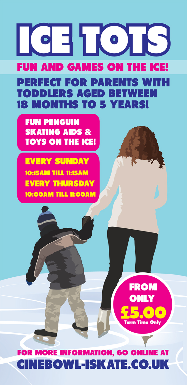 Parent & Toddler ice skating with Planet Ice!